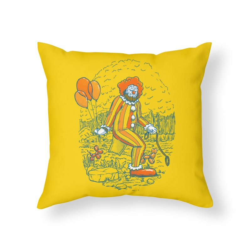 Clownfoot Home Throw Pillow by nickv47