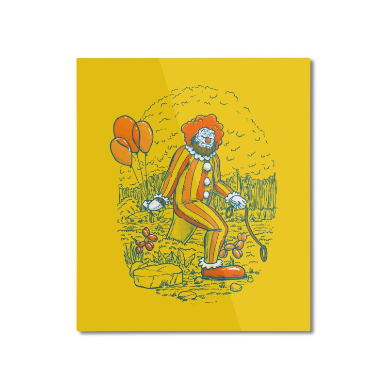 Clownfoot Home Mounted Aluminum Print by nickv47