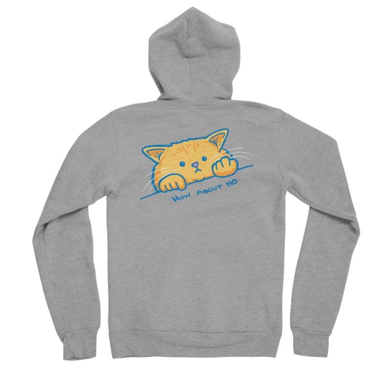 How About No Men's Sponge Fleece Zip-Up Hoody by nickv47