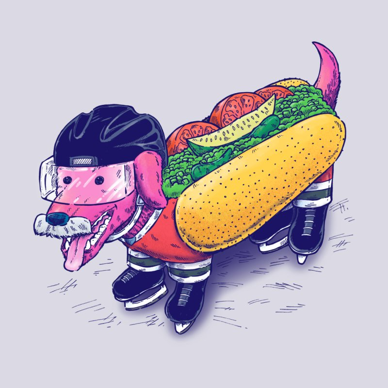 Chicago Hockey Dog Accessories Skateboard by nickv47