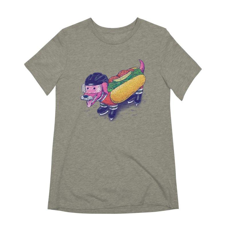 Chicago Hockey Dog Women's Extra Soft T-Shirt by nickv47