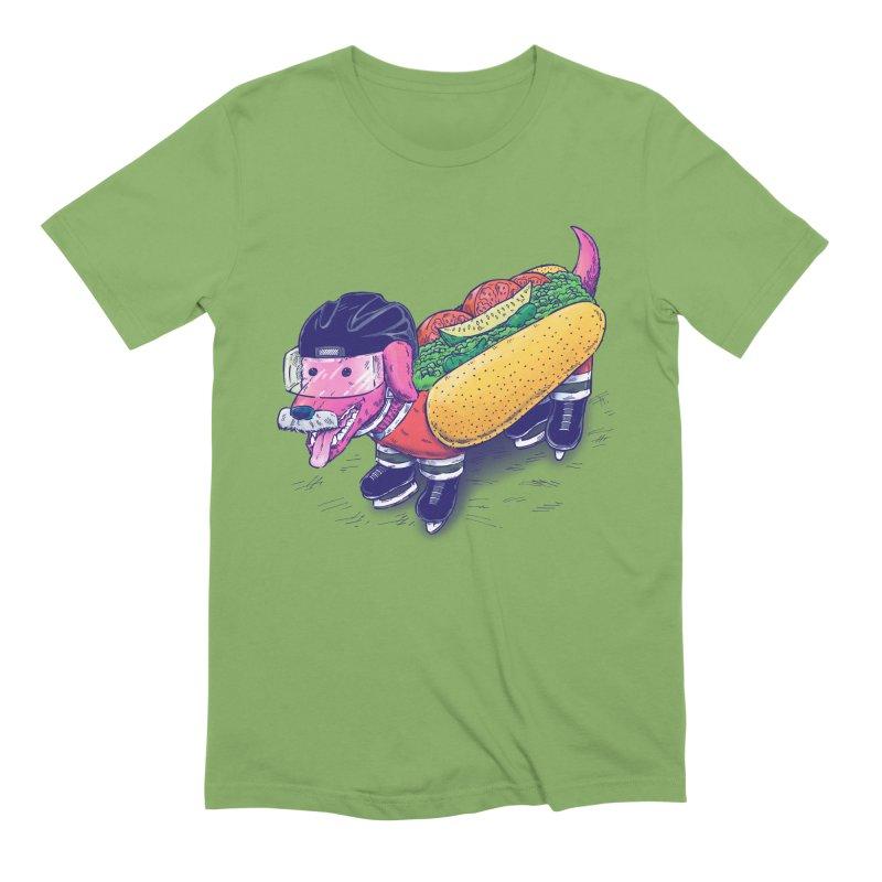 Chicago Hockey Dog Men's Extra Soft T-Shirt by nickv47