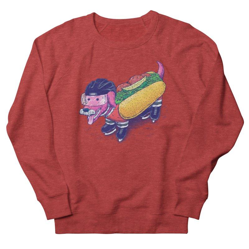 Chicago Hockey Dog Men's French Terry Sweatshirt by nickv47
