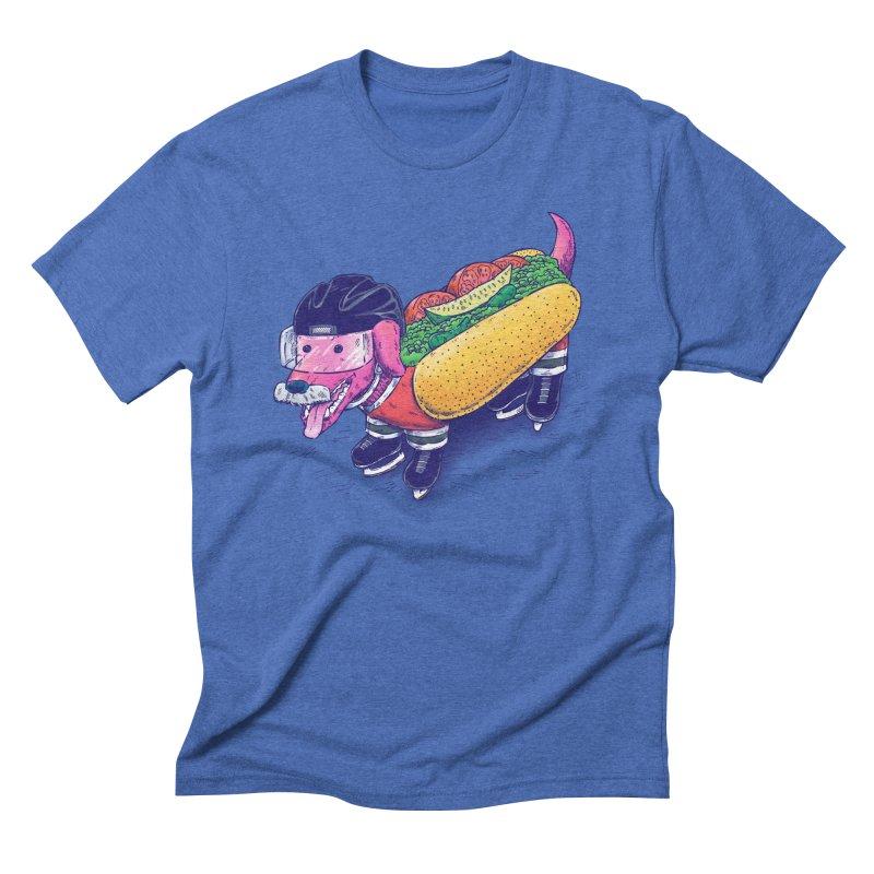 Chicago Hockey Dog Men's Triblend T-Shirt by nickv47