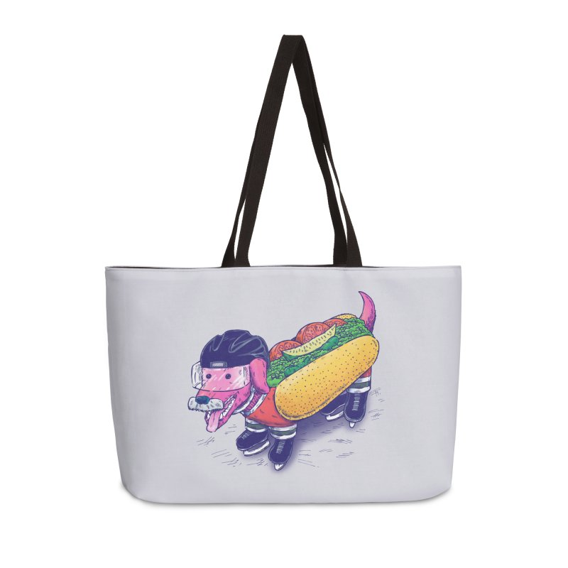 Chicago Hockey Dog Accessories Weekender Bag Bag by nickv47