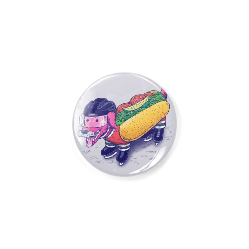 Chicago Hockey Dog Accessories Button by nickv47