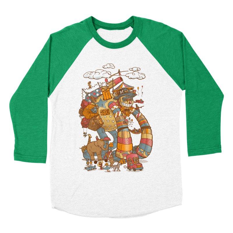 Circusbot Women's Baseball Triblend Longsleeve T-Shirt by nickv47