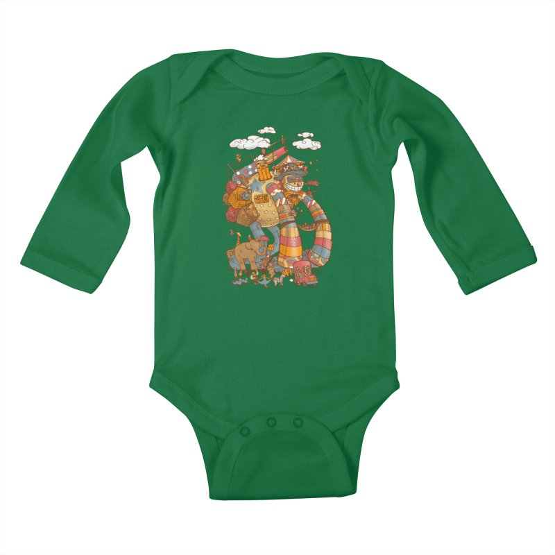 Circusbot Kids Baby Longsleeve Bodysuit by nickv47