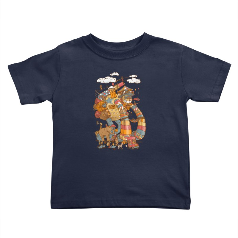 Circusbot Kids Toddler T-Shirt by nickv47