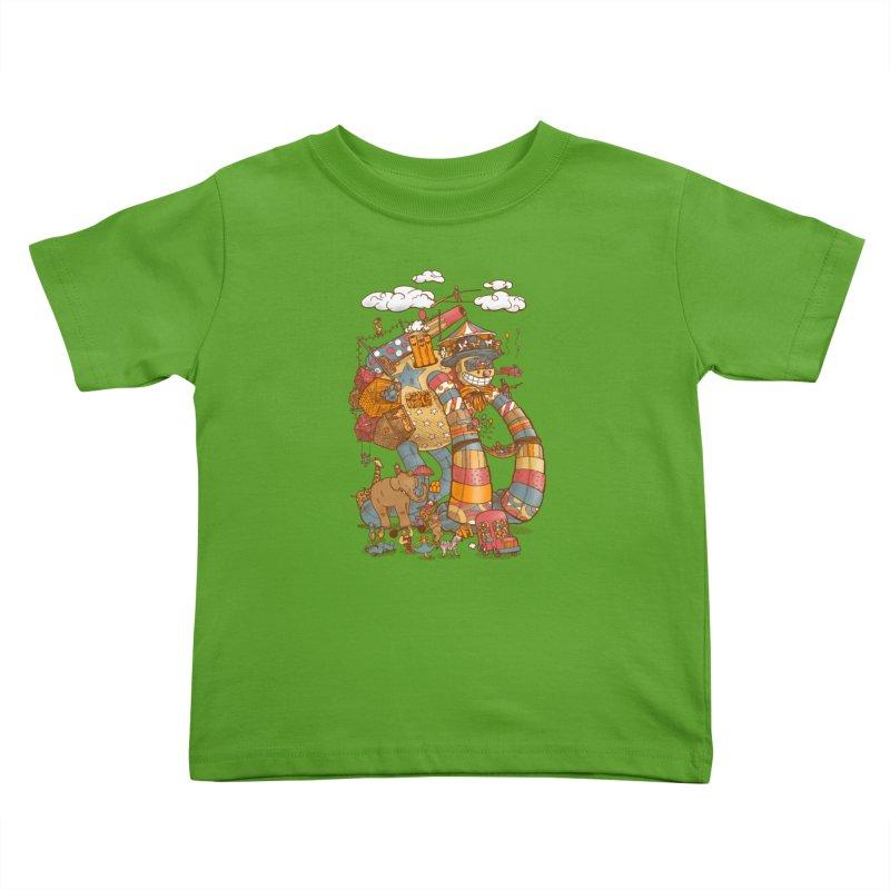 Circusbot Kids Toddler T-Shirt by nickv47