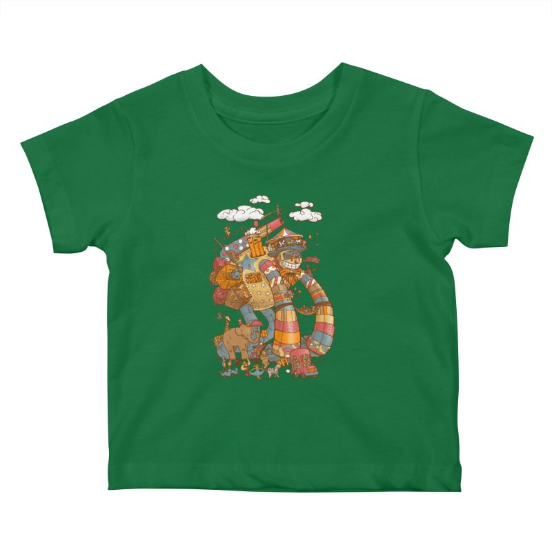 Circusbot Kids Baby T-Shirt by nickv47