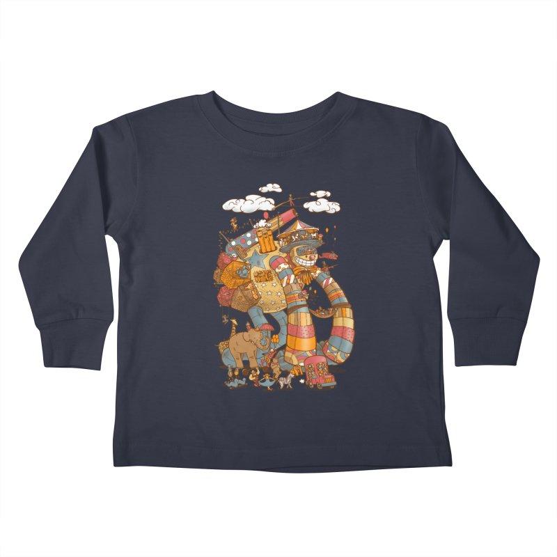 Circusbot Kids Toddler Longsleeve T-Shirt by nickv47