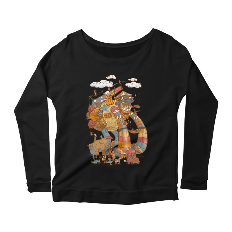 Circusbot Women's Scoop Neck Longsleeve T-Shirt by nickv47