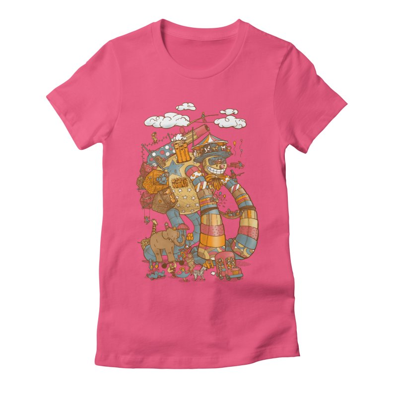 Circusbot Women's Fitted T-Shirt by nickv47