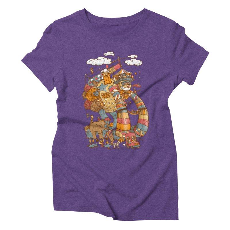 Circusbot Women's Triblend T-Shirt by nickv47