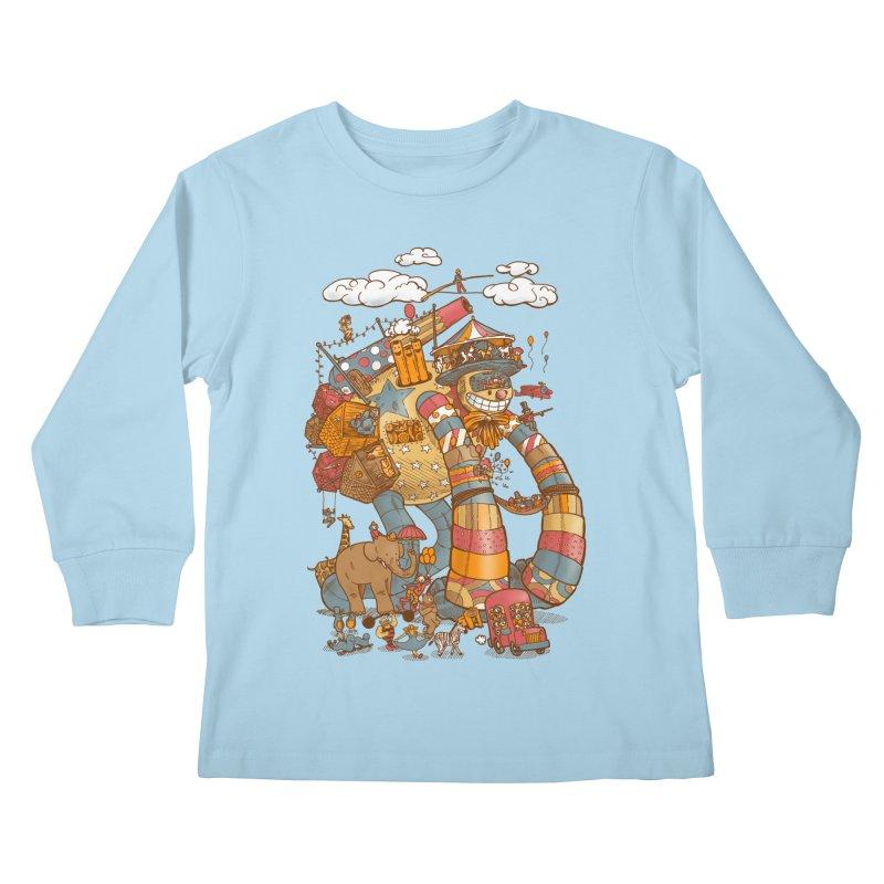 Circusbot Kids Longsleeve T-Shirt by nickv47