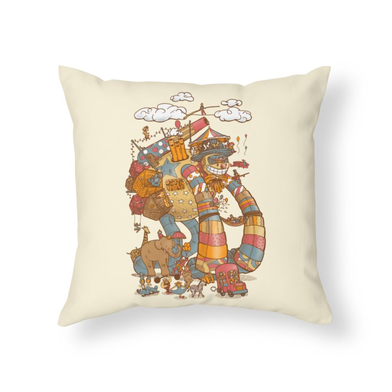 Circusbot Home Throw Pillow by nickv47