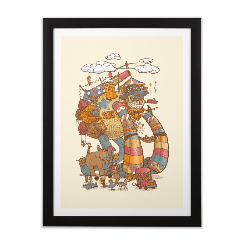 Circusbot Home Framed Fine Art Print by nickv47