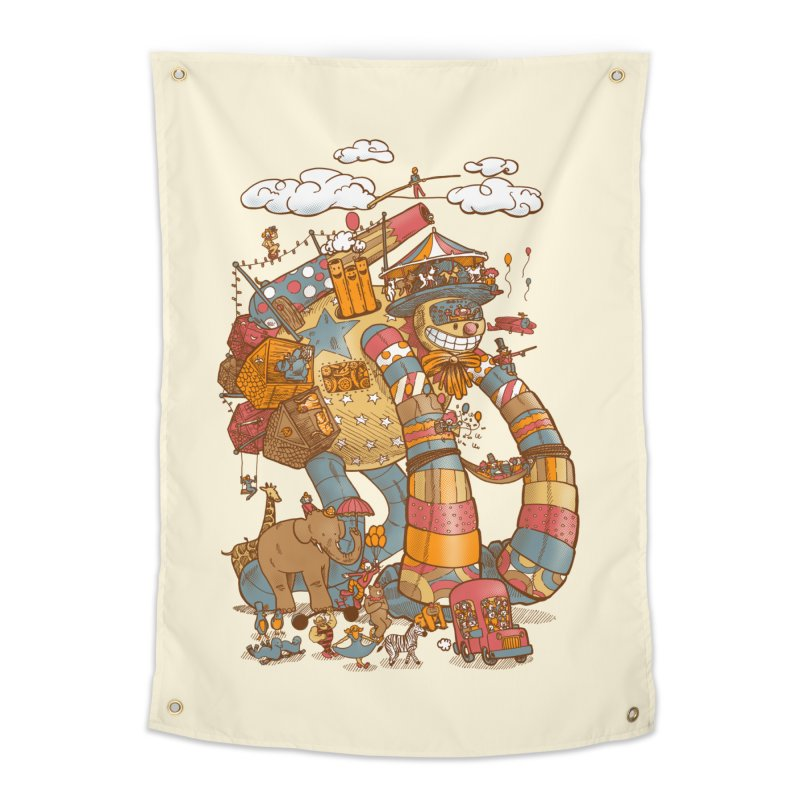 Circusbot Home Tapestry by nickv47