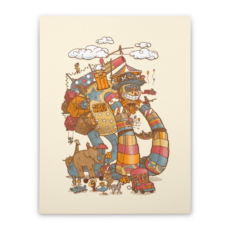 Circusbot Home Stretched Canvas by nickv47