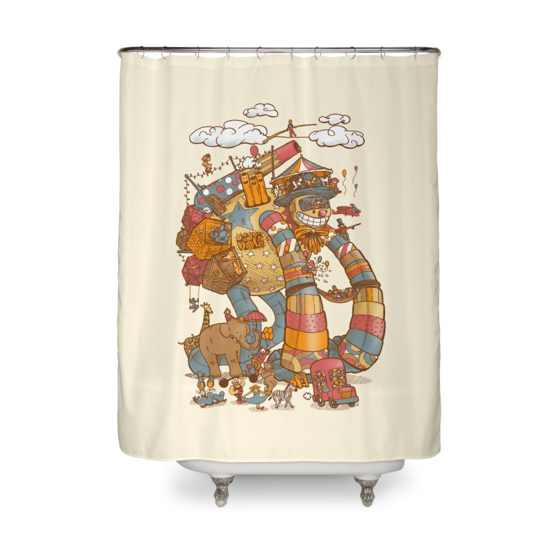 Circusbot Home Shower Curtain by nickv47