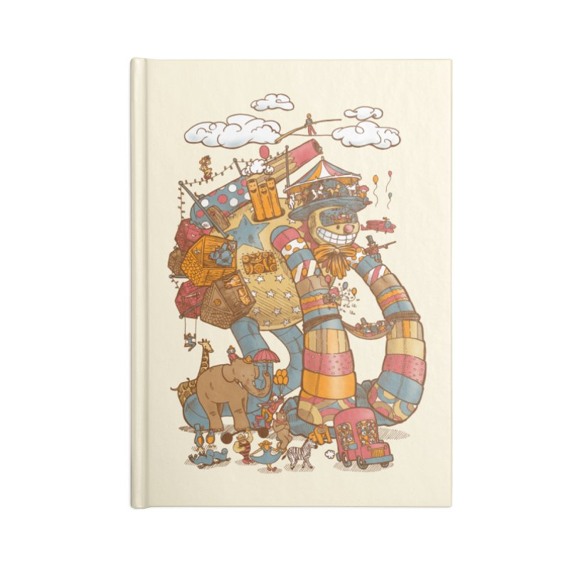 Circusbot Accessories Lined Journal Notebook by nickv47
