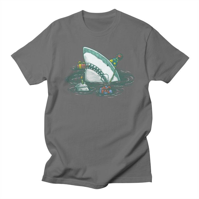 The Birthday Shark Men's T-Shirt by nickv47