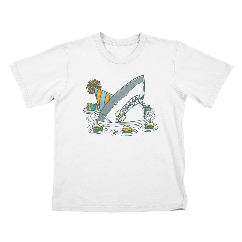 Birthday Party Shark II Kids T-shirt by nickv47
