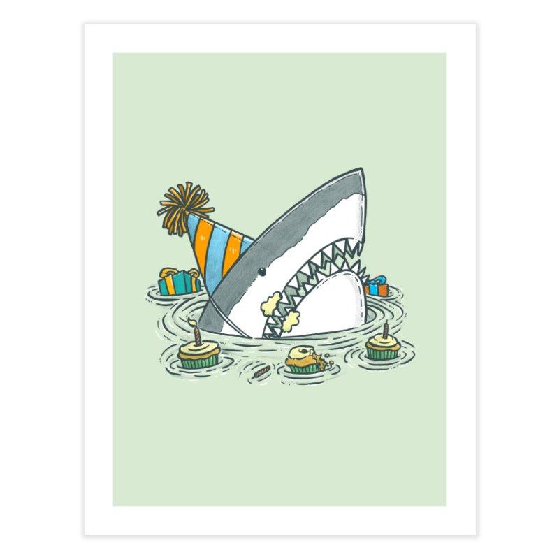 Birthday Party Shark II Home Fine Art Print by nickv47