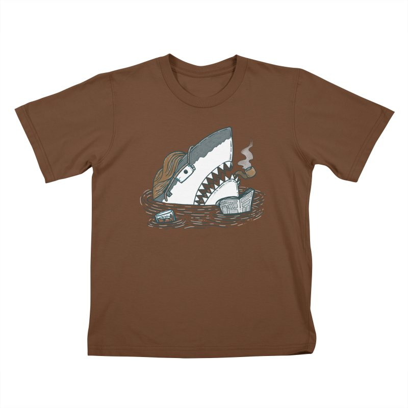 The Dad Shark Kids T-shirt by nickv47