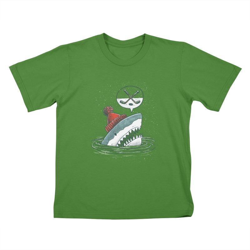 The Hockey Shark Kids T-shirt by nickv47
