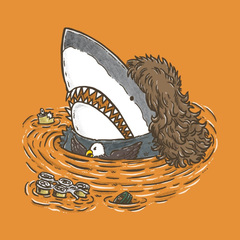 The Mullet Shark Kids T-Shirt by nickv47