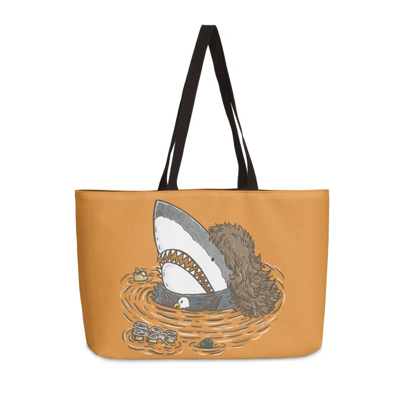 The Mullet Shark Accessories Bag by nickv47