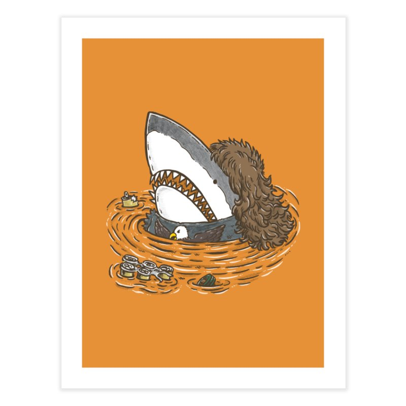 The Mullet Shark Home Fine Art Print by nickv47