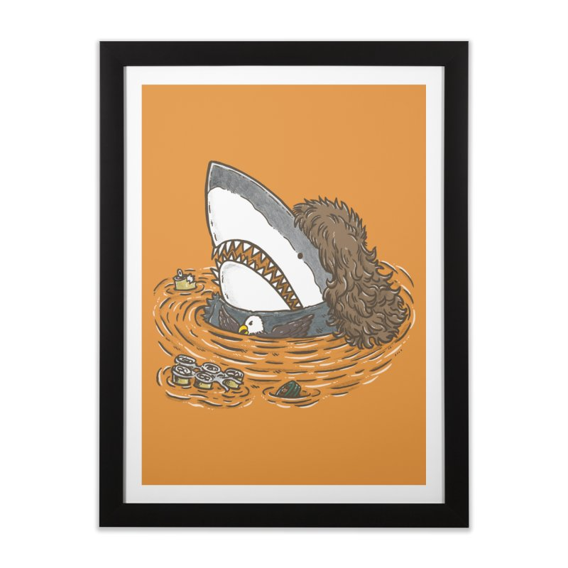 The Mullet Shark Home Framed Fine Art Print by nickv47