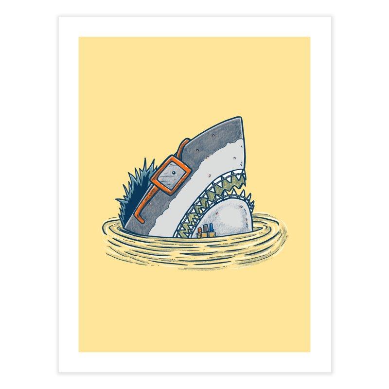 The Nerd Shark Home Fine Art Print by nickv47