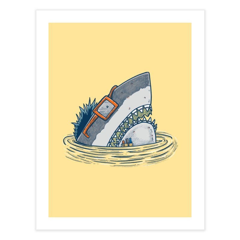 The Nerd Shark Home Fine Art Print by nickv47