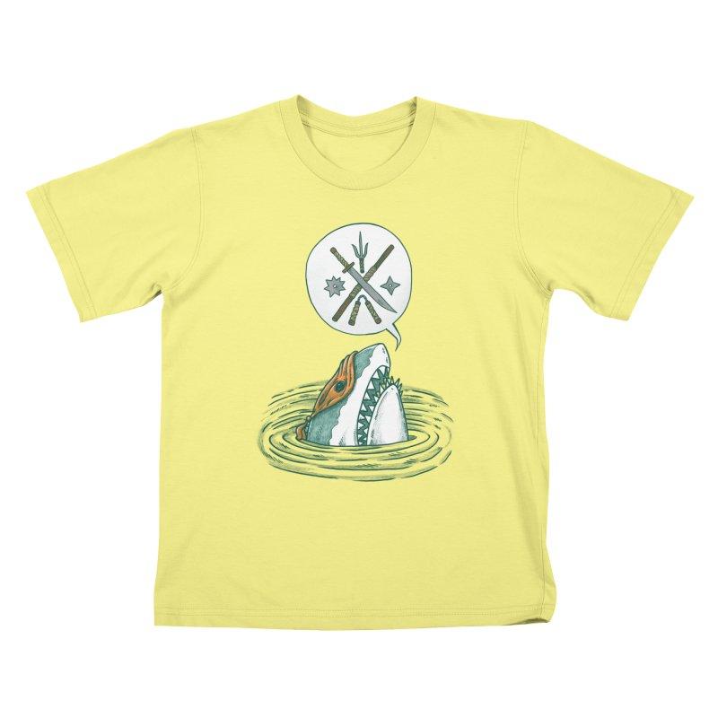 The Ninja Shark Kids T-shirt by nickv47