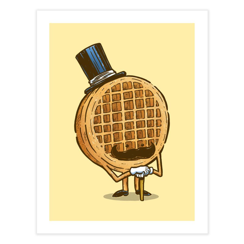 The Fancy Waffle Home Fine Art Print by nickv47