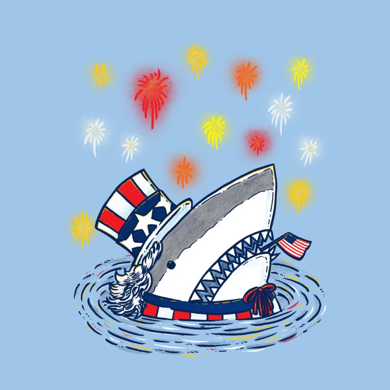 The Patriotic Shark Kids T-shirt by nickv47
