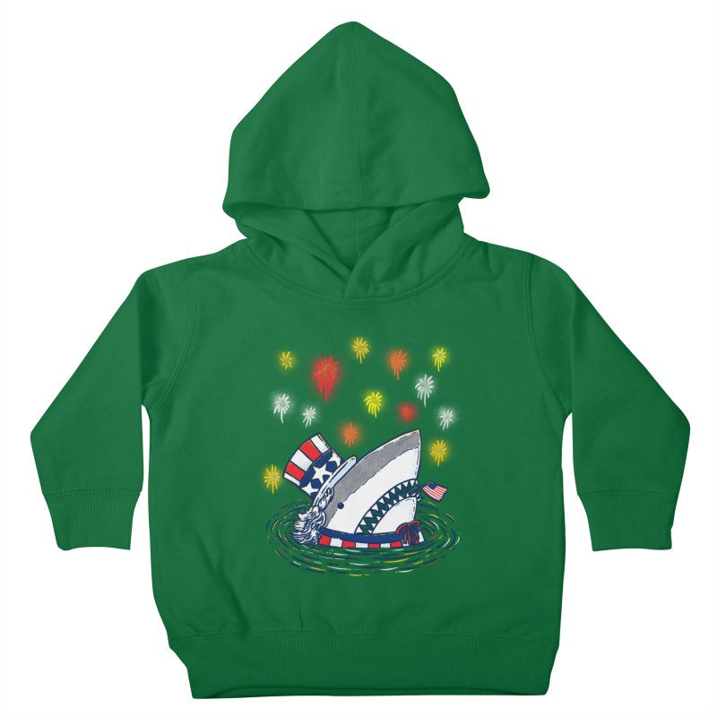 The Patriotic Shark Kids Toddler Pullover Hoody by nickv47
