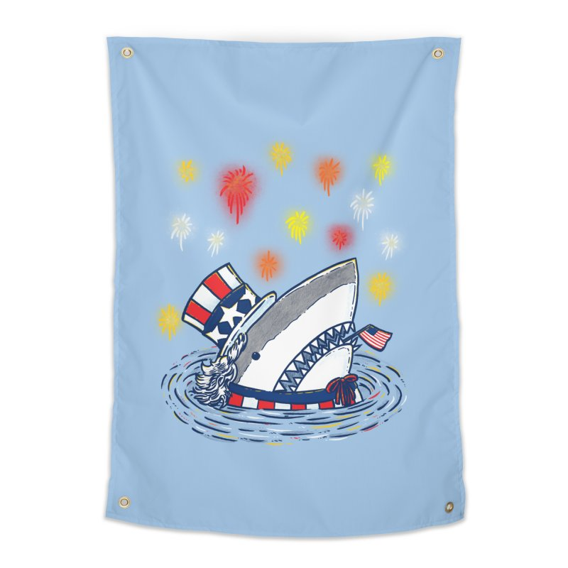 The Patriotic Shark Home Tapestry by nickv47