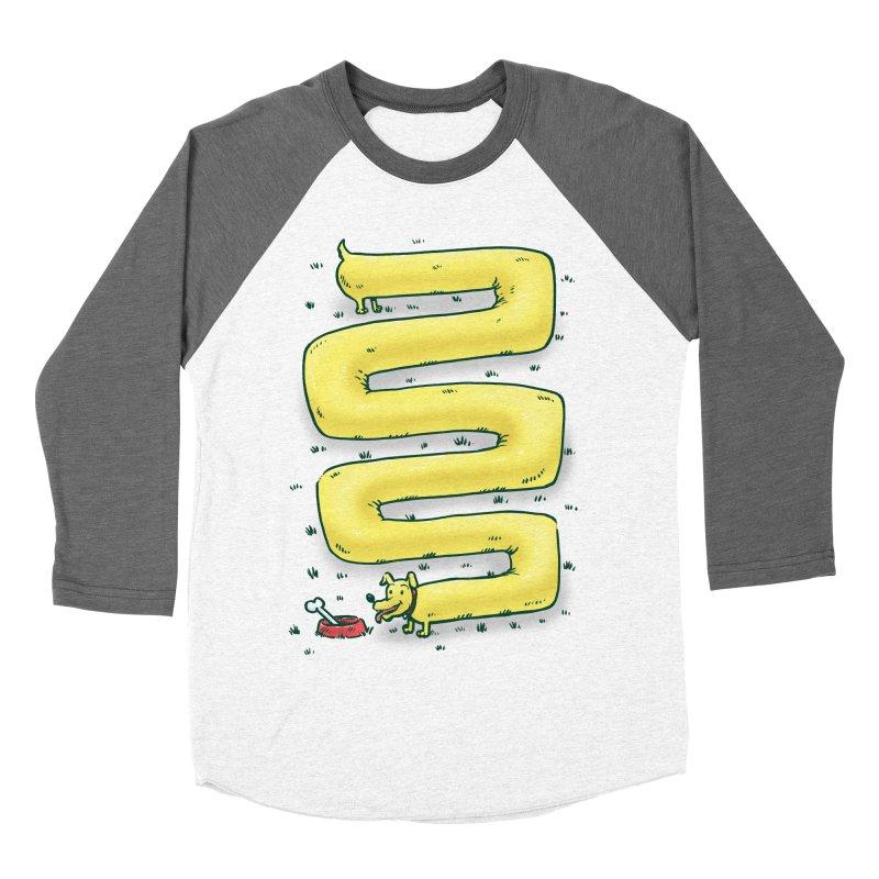 Infinite Wiener Dog Women's Baseball Triblend T-Shirt by nickv47