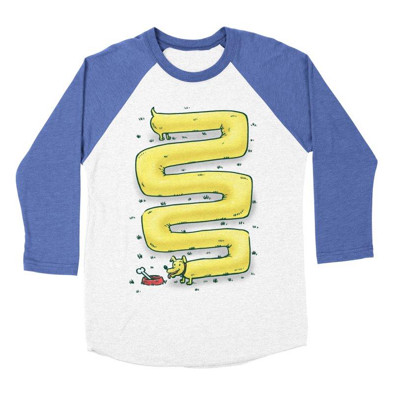 Infinite Wiener Dog Men's Baseball Triblend T-Shirt by nickv47