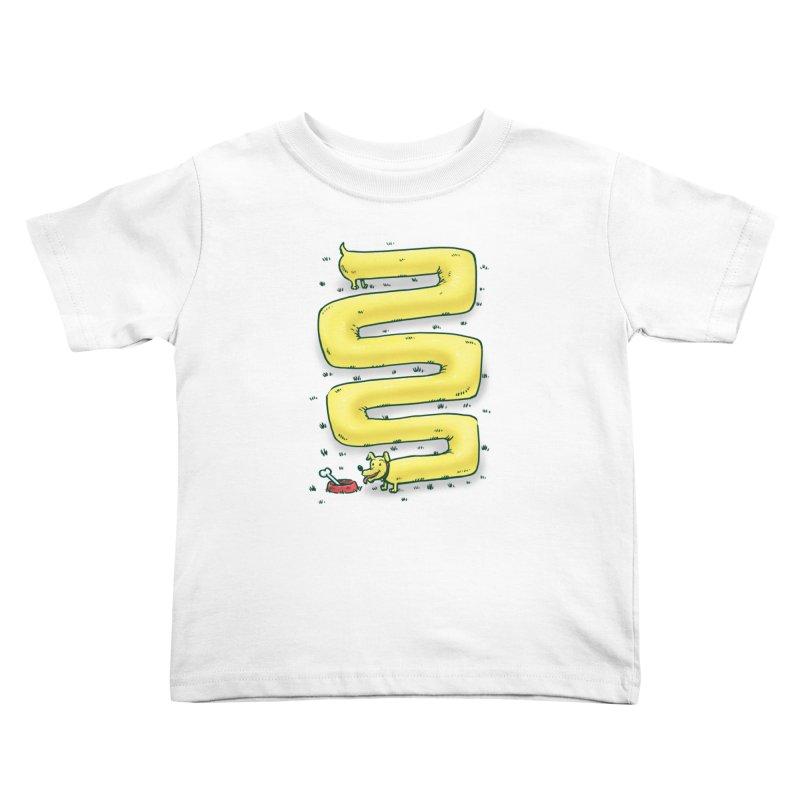 Infinite Wiener Dog Kids Toddler T-Shirt by nickv47