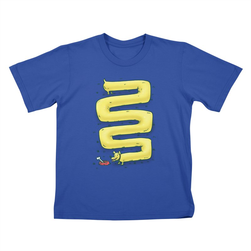 Infinite Wiener Dog Kids T-shirt by nickv47