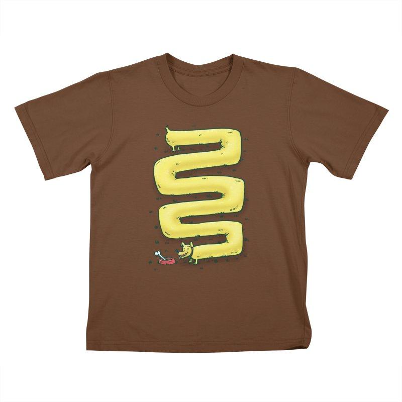 Infinite Wiener Dog Kids T-Shirt by nickv47