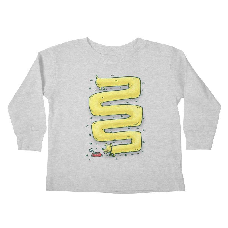 Infinite Wiener Dog Kids Toddler Longsleeve T-Shirt by nickv47