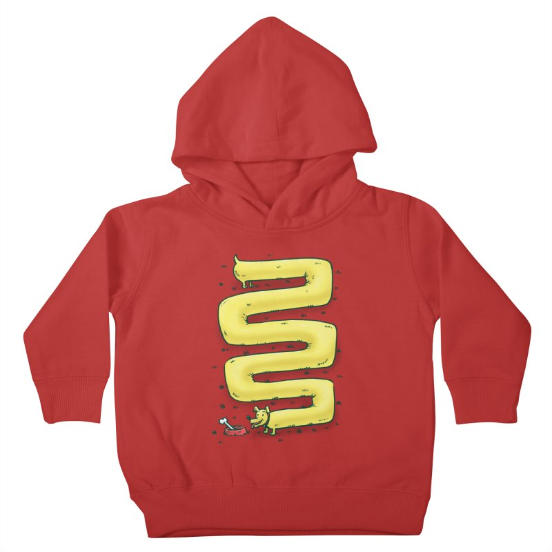Infinite Wiener Dog Kids Toddler Pullover Hoody by nickv47