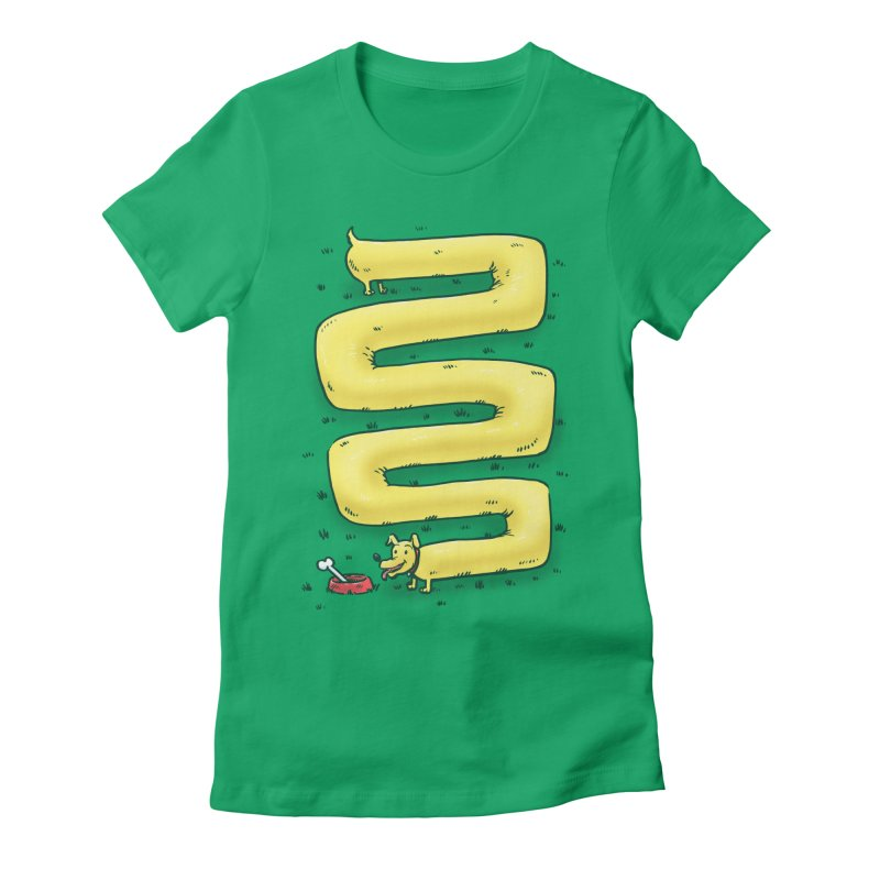 Infinite Wiener Dog Women's Fitted T-Shirt by nickv47